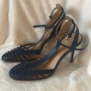 Banana Republic Cobalt Cage Sandals
